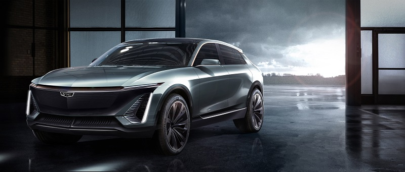 Rendering of future Cadillac EV.
