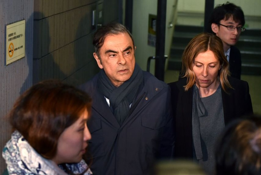 Carlos Ghosn and wife Carole April 2019 GettyImages.jpg