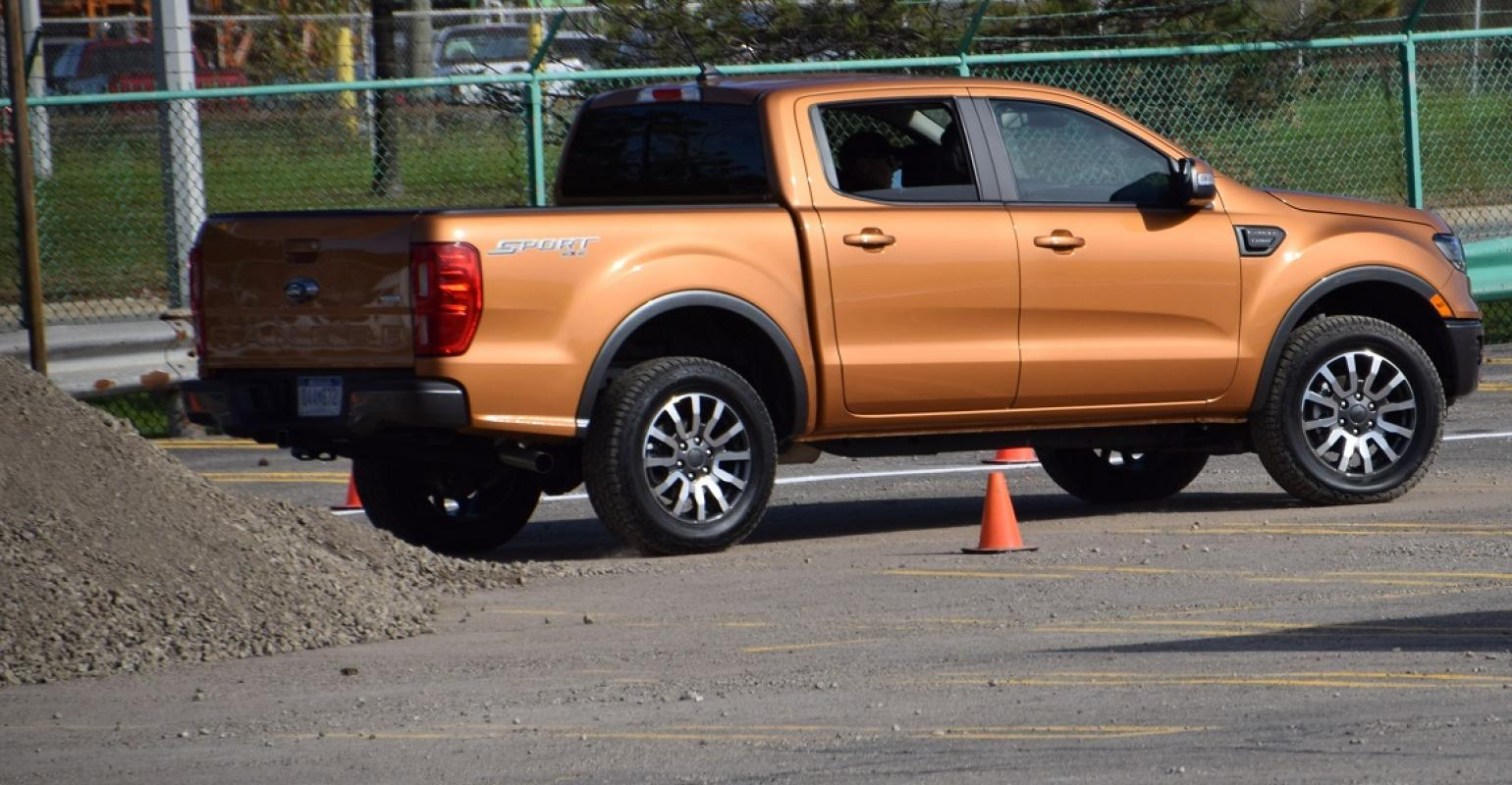 2019 ford ranger on off road track set up outside michigan assembly plant in wayne