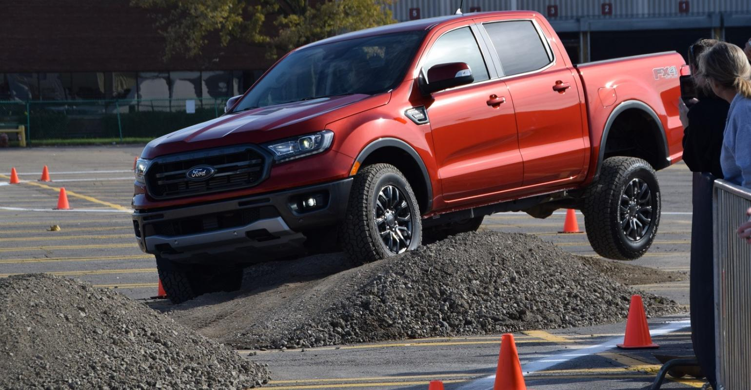 2019 ford ranger put through paces outside fords michigan assembly plant
