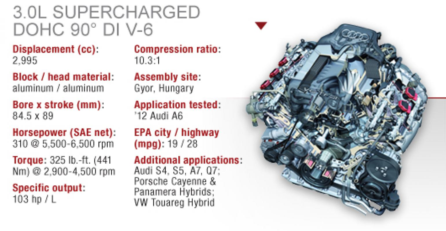 Audi 30l Tfsi Supercharged Dohc V 6 Wardsauto 4l Engine Diagram