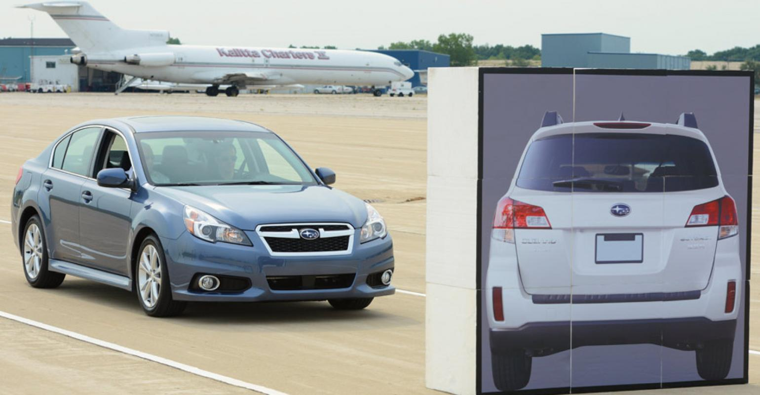 Subaru Legacy: Stopping the engine