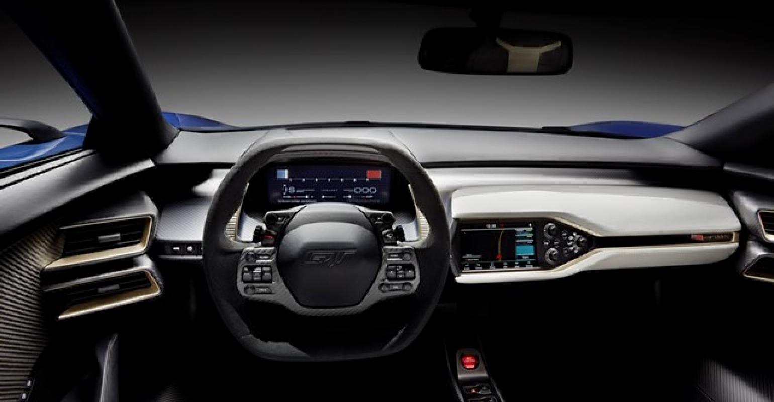 Ford Gt Interior Designed To Convey Lightness And Connection To Motorsports