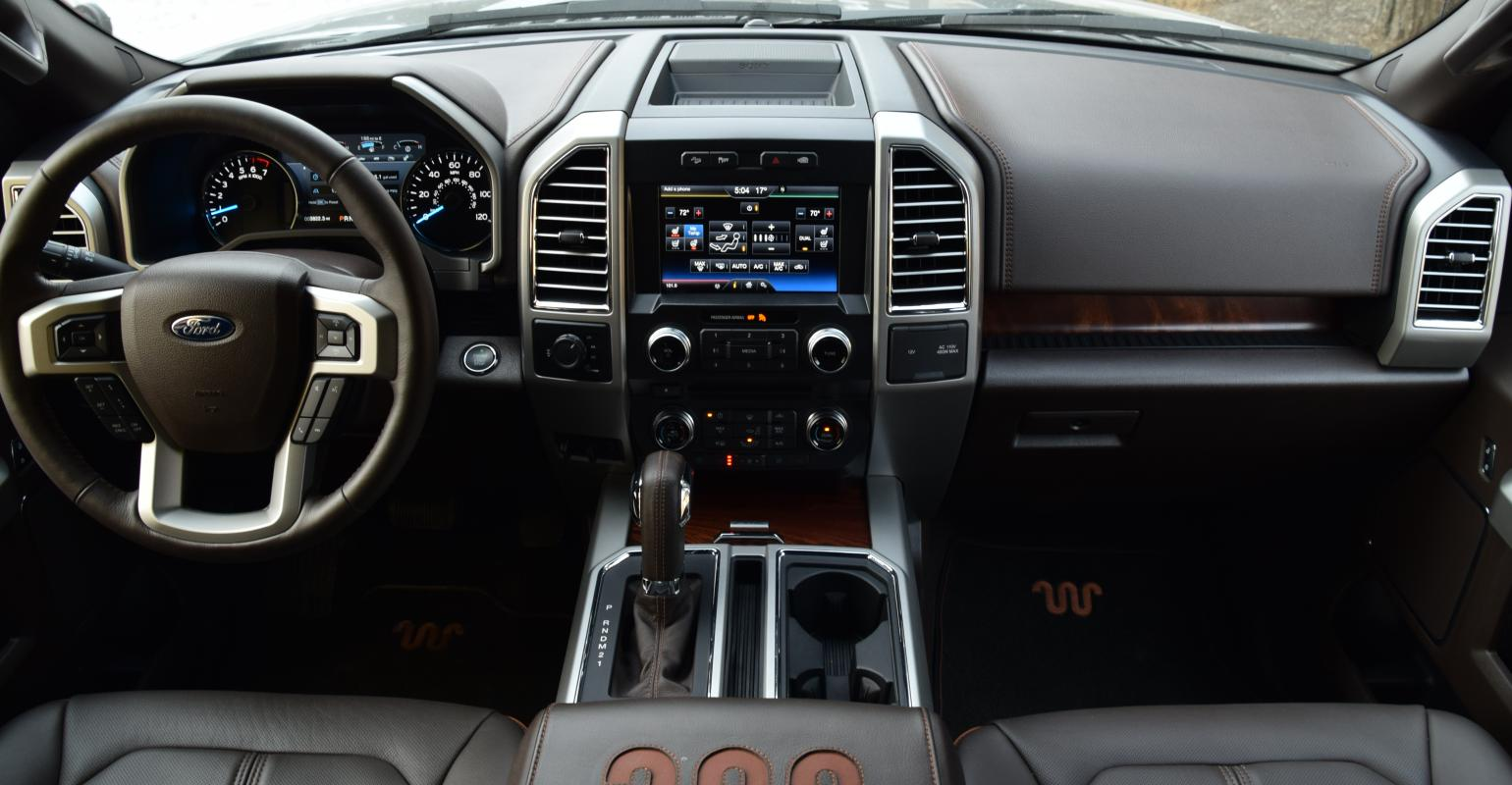 Ford f 150 king ranch interior combines luxury utility