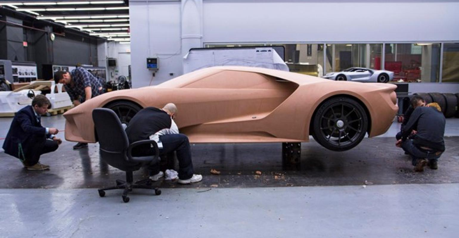 Early Clay Model Of Ford Gt Supercar