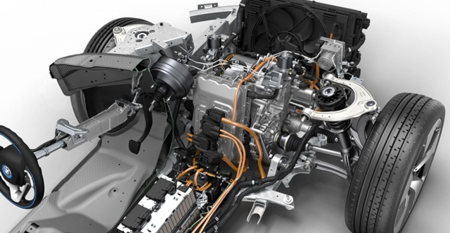 Bmw I8 Plugin Hybrid Integrates Gkn Electric Drive On Front Axles