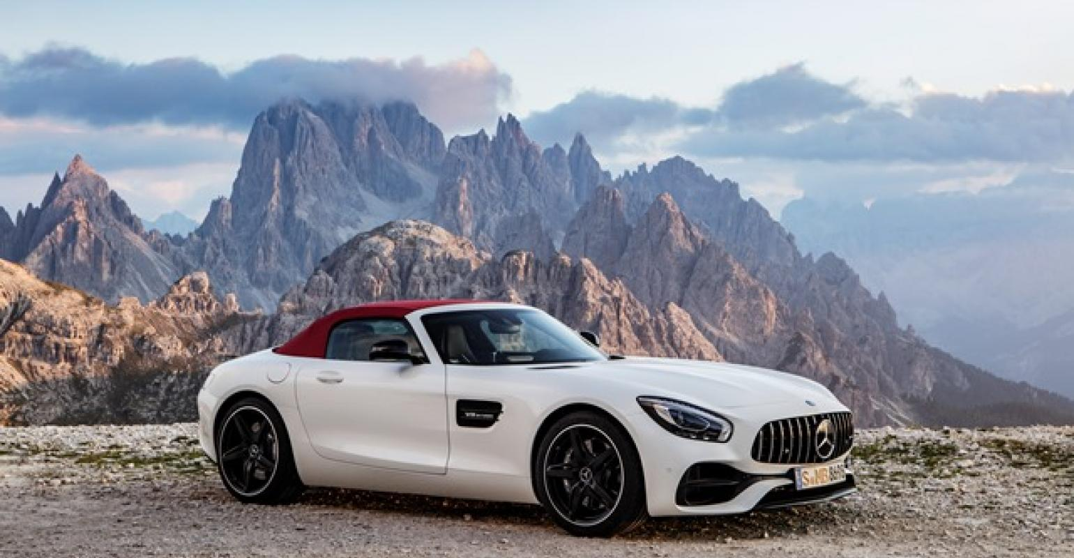 Wraps Come Off Mercedes Amg Gt Roadster Wardsauto