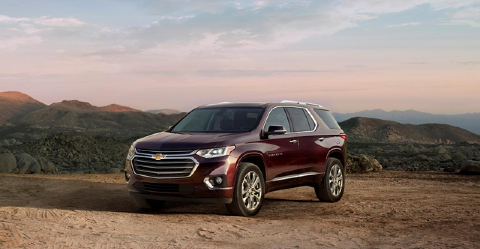 North American International Auto Show New Chevy Traverse Cuv Bows