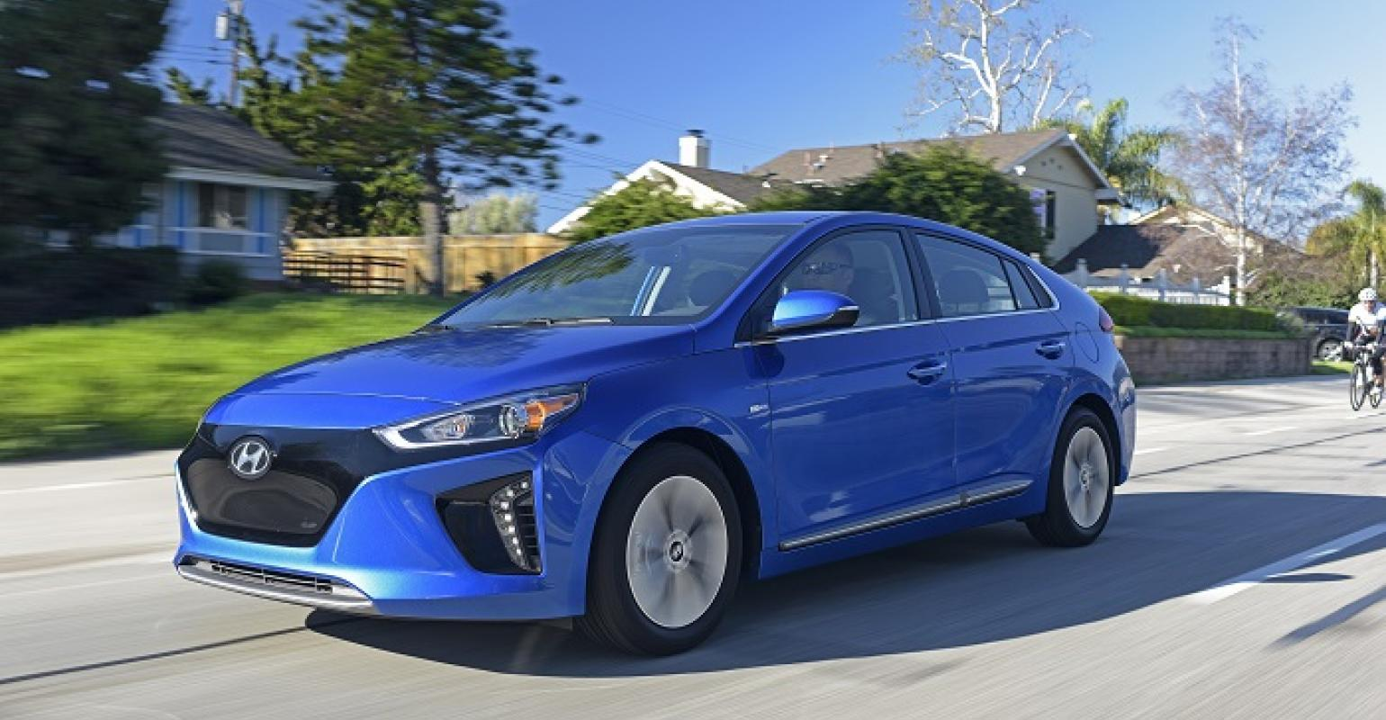 Ioniq Offered In Five Colors Blue White Black Silver And Gray