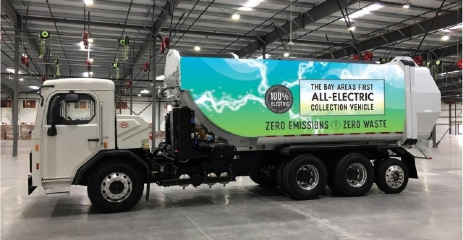 Byd Delivers Electric Refuse Truck To Palo Alto Ca
