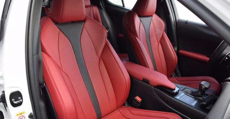 Lexus UX 200 FSport pass front seats Circuit Red