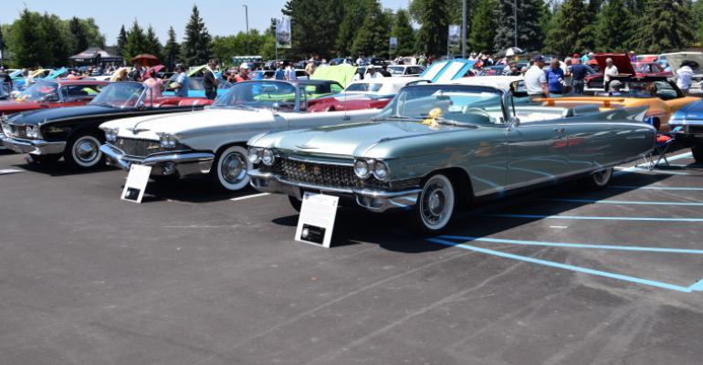 1960 Cadillac Eldorado Biarritz. Left is 1960 Chrysler Imperial Crown  - Copy.JPG