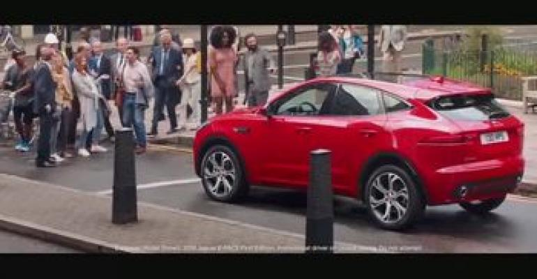 """Jaguar's """"Drive Like Everybody's Watching"""" commercial for E-Pace."""