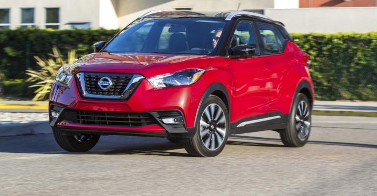 New Kicks CUV on sale now at U.S. Nissan dealers.