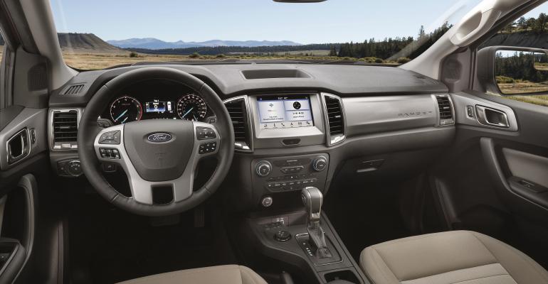 2019 Ford Ranger XLT instrument panel