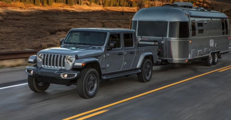 2020 Jeep Gladiator Towing Airstream