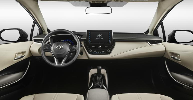 2020 Toyota Corolla instrument panel