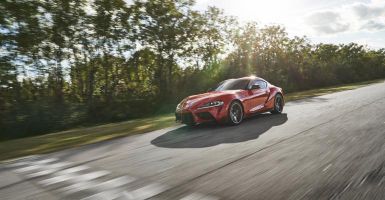 2020 Toyota Supra red NAIAS main