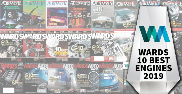 25 years of Wards 10 Best Engines