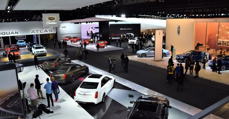 Show floor at NAIAS Tuesday