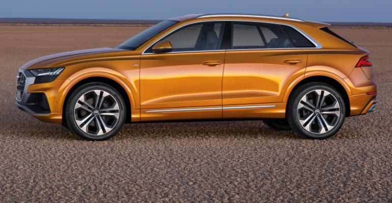 Q8 has same 118.1-in. (3,000-mm) wheelbase as Audi Q7.