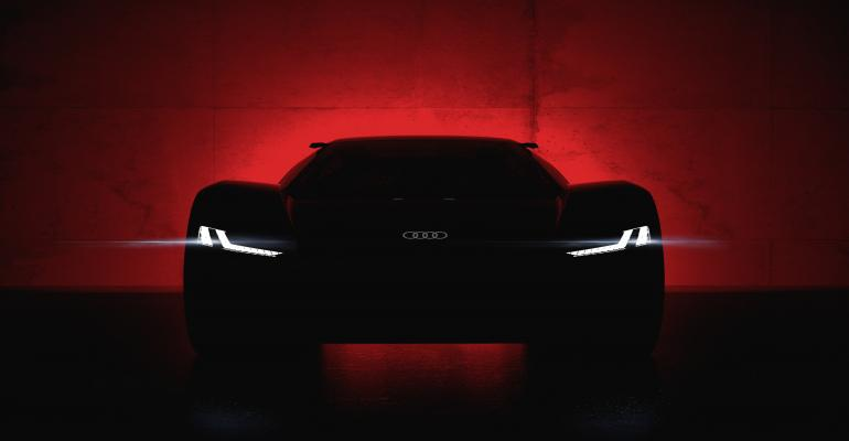 Audi PB18 e-Tron concept borrows design cues from R-18 e-Tron race car.