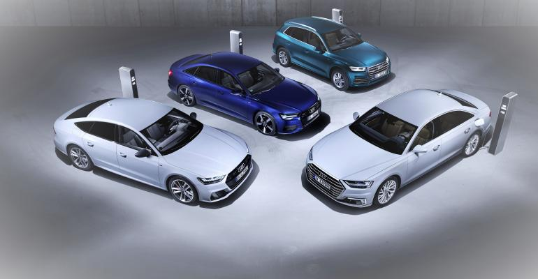Audi's new plug-in hybrid systems range from 295 hp to 443 hp.