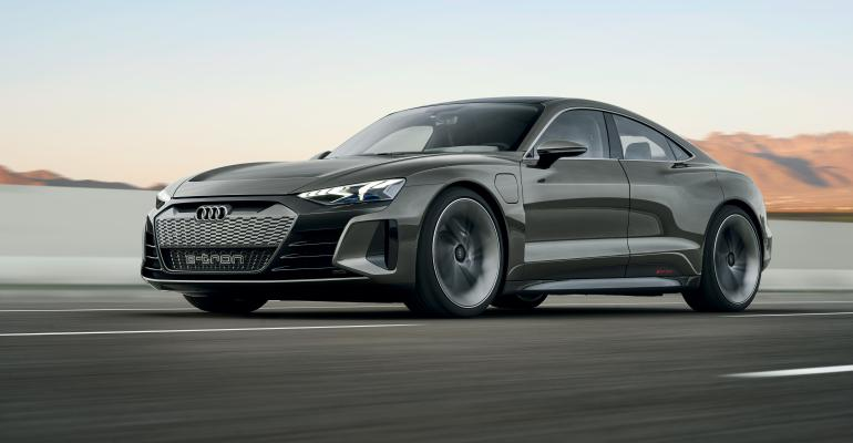 Four-door electric-powered e-Tron GT set for U.S. delivery in 2021.
