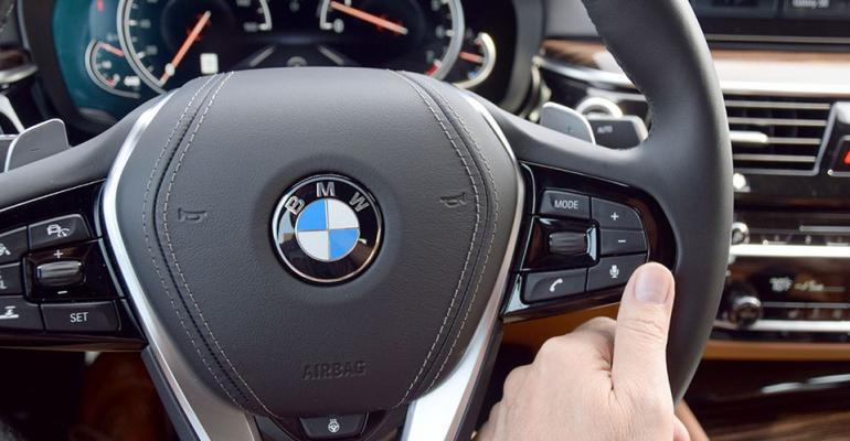 BMW 640i steering wheel