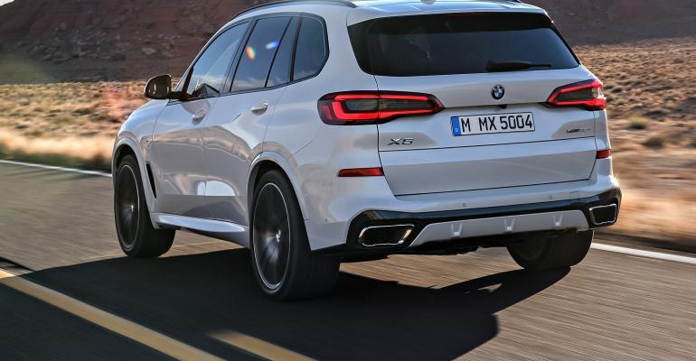 BMW X5 rear quarter white
