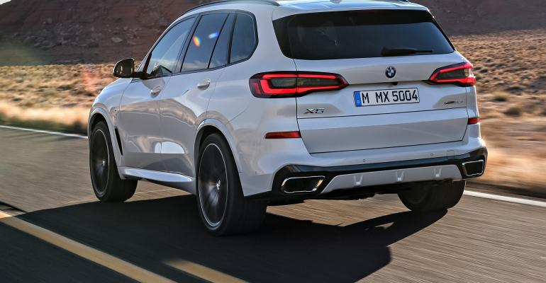 BMW X5 rear quarter white