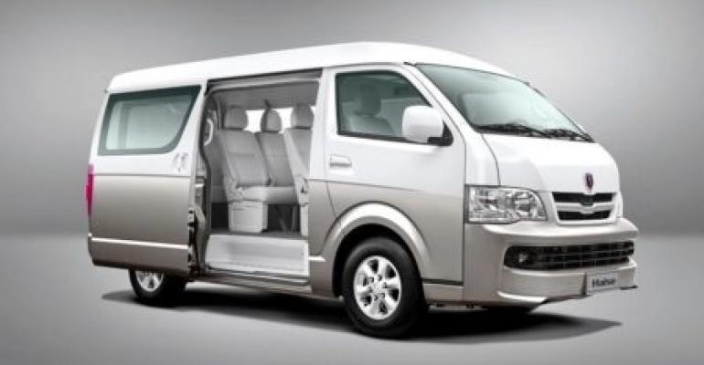Brilliance range includes Jinbei Hiace H2 van.