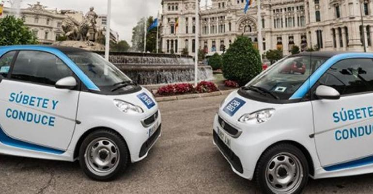 Car2go among car-sharing services in Madrid.