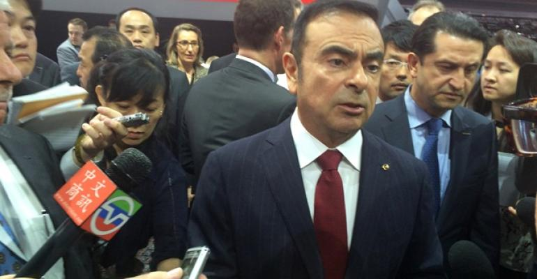 Then-Renault-Nissan Alliance CEO Ghosn at 2015 New York Auto Show.