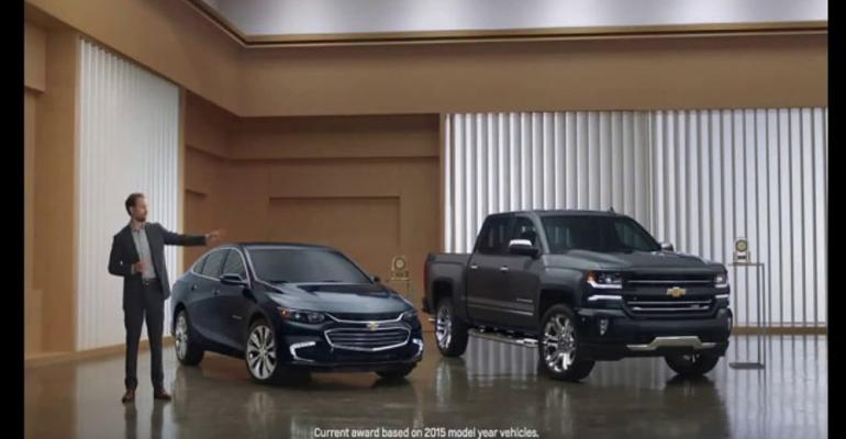 Spokesman in top-ranked Chevrolet ad gets it right third time.
