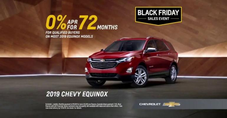 Equinox deal front and center in most-viewed car commercial.