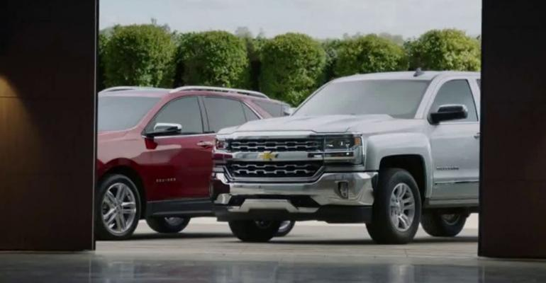 Chevrolet ad underscores brand's J.D. Power dependability awards.