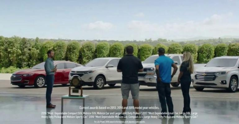 Chevrolet focus-group spot most-watched auto ad for second straight week.