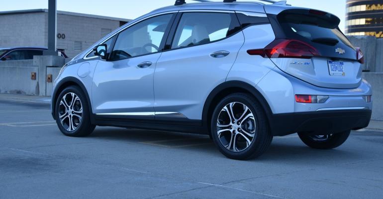 GM's zero-emissions Chevrolet Bolt EV.