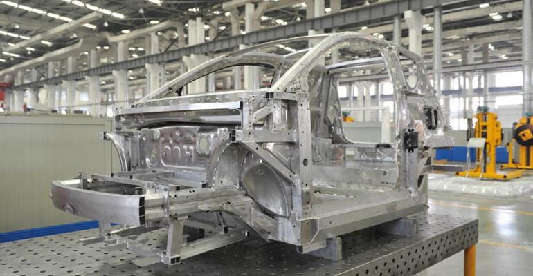 China Zhongwang aluminum car-body frame.