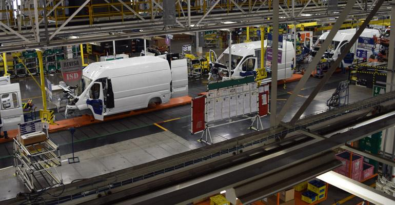 Ram ProMaster van production at FCA's Saltillo, Mexico, assembly plant.