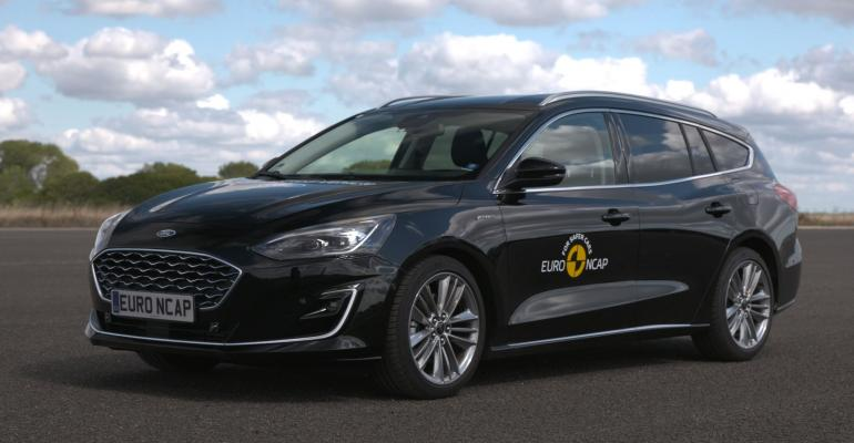 Ford Focus used in Euro NCAP automated driving testing.