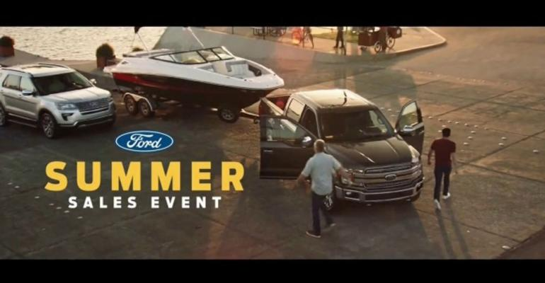 Ford ad highlights Pro-Trailer Backup Assist feature.