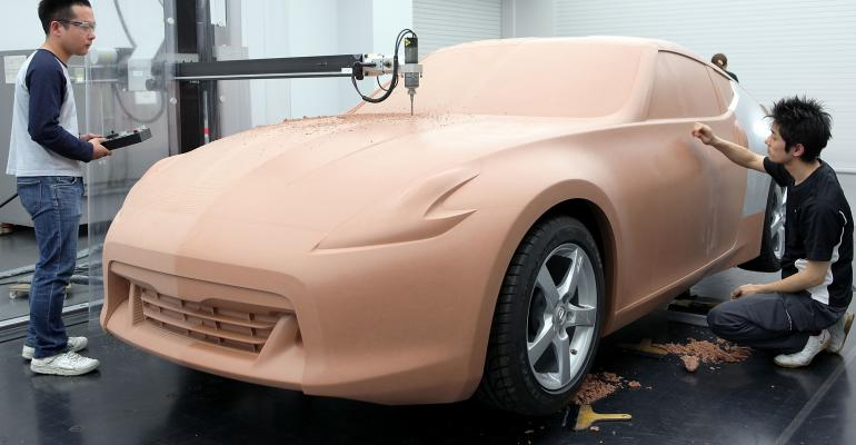 GettyImages Nissan Design Center clay model.jpg