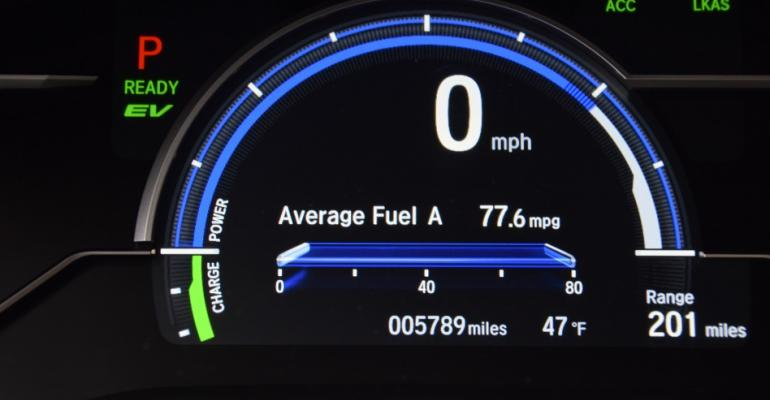 Honda Clarity PHEV 77.6 mpg
