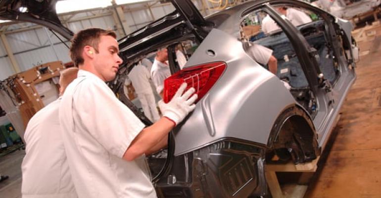 Honda builds Civic hatchbacks at U.K.'s fourth-largest auto plant.
