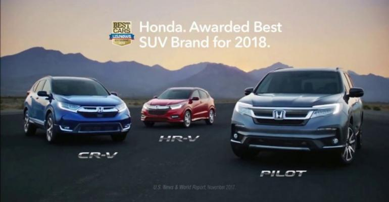 Most-watched ad touts Honda's SUV range.