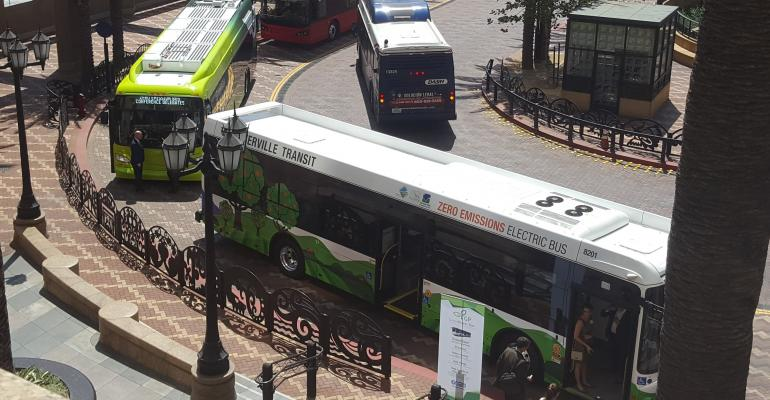 Hydrogen fuel-cell buses at ZEB conference