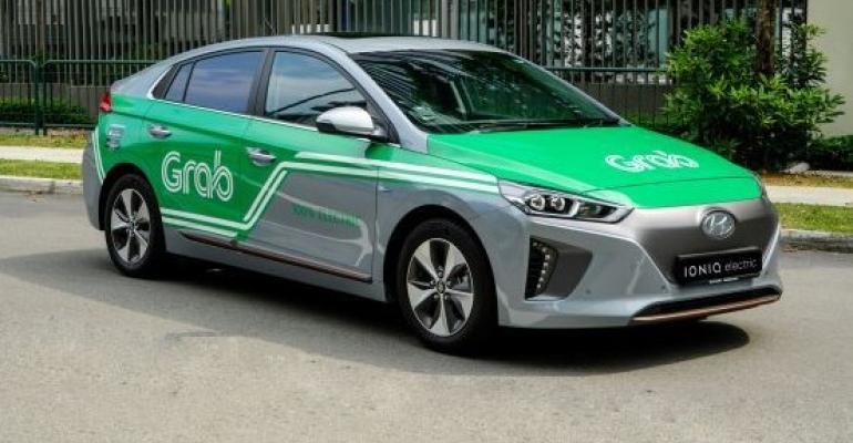 Grab fleet includes Hyundai Ioniq EVs.