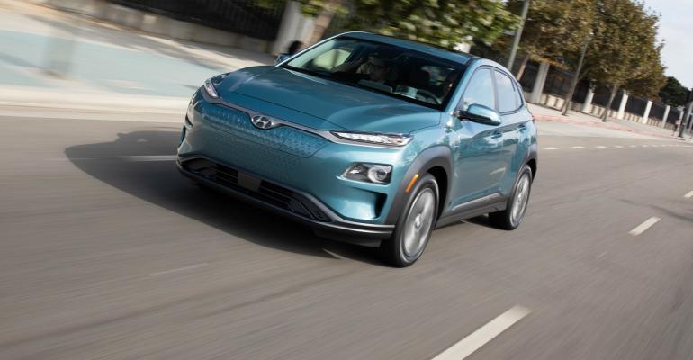 Hyundai 2019 Kona EV blue cropped